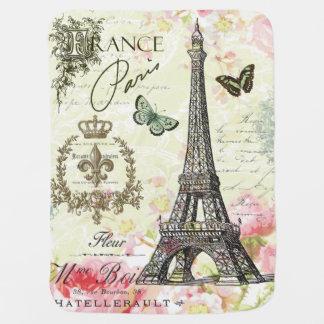 Couvertures Pour Bébé Tour Eiffel français vintage moderne