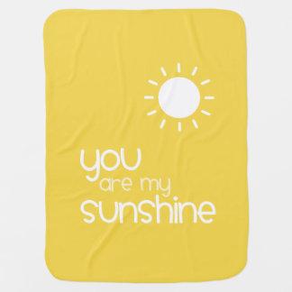 Couvertures Pour Bébé Vous êtes mon bébé de jaune de soleil
