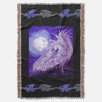 Couvertures Pourpre magique de lune de licorne de dragons de