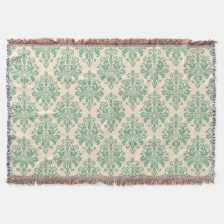 Couvertures Rétro motif vintage élégant de damassé