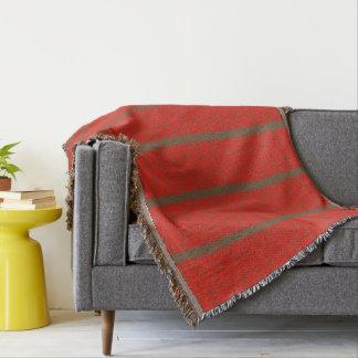 Couvertures Rouge avec les rayures brun chocolat