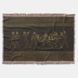 Couvertures Scène antique de Sparte Grèce sur le motif grec