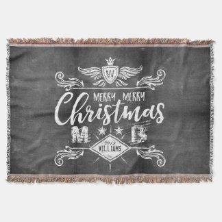 Couvertures Typographie grunge de Joyeux Noël de tableau rétro