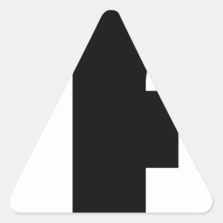 covfefe sticker triangulaire