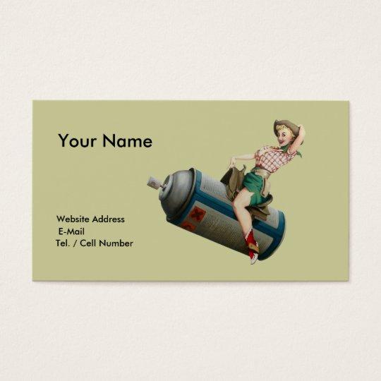 Cow-girl de vol cartes de visite