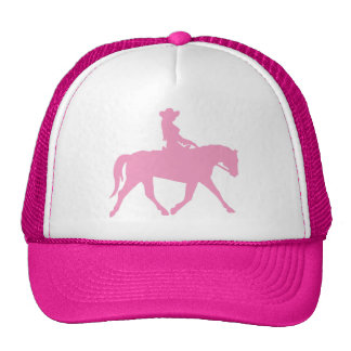 Cow-girl montant son cheval (rose) casquette