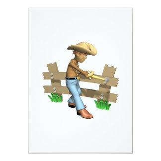 Cowboy 3 carton d'invitation  12,7 cm x 17,78 cm