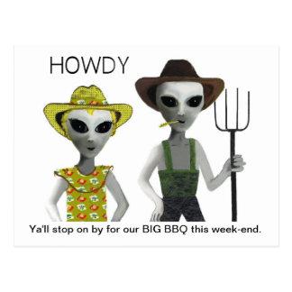 Cowboy, aliens de cow-girl - ALLO ! Carte Postale