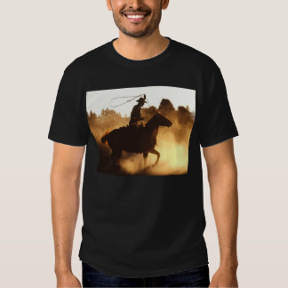 Cowboy avec le lasso t-shirts