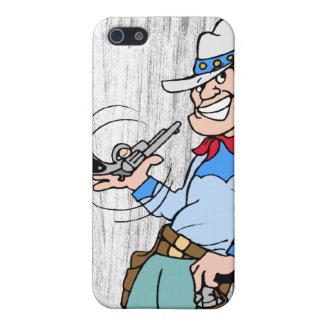 Cowboy avec son arme à feu iPhone 5 case