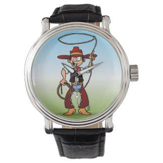 Cowboy avec un lasso montres cadran
