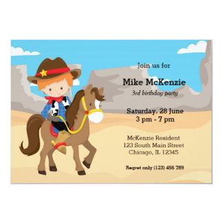 Cowboy Carton D'invitation 12,7 Cm X 17,78 Cm