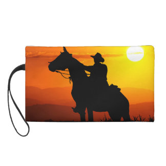 Cowboy-Cowboy-soleil-occidental-pays de coucher du Pochette Avec Dragonne