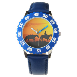 Cowboy-Cowboy-Texas-occidental-pays occidental Montres Bracelet