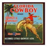 Cowboy de la Floride Posters
