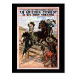 Cowboy de l'Arizona dans le grand théâtre de tente Cartes Postales
