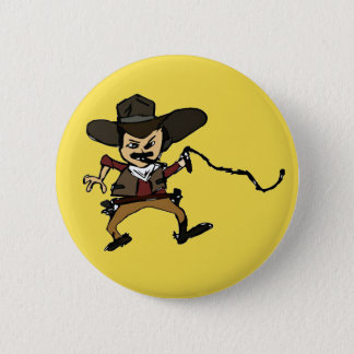 cowboy de tabagisme esquissé pin's