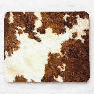 Cowboy d'impression de peau de vache ! tapis de souris
