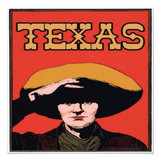Cowboy du Texas Carton D'invitation 13,33 Cm