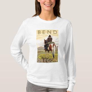 Cowboy et cheval - courbure, Orégon T-shirt