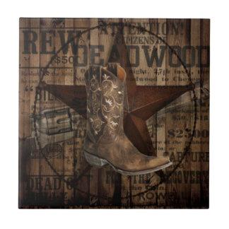 Cowboy grunge de pays occidental d'étoile petit carreau carré