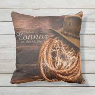 Cowboy rustique occidental oreillers