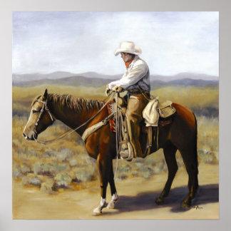 Cowboy seul poster