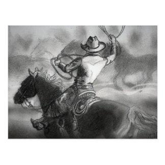 Cowboy sur la carte postale d'illustration de
