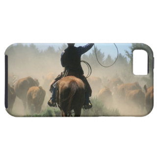 Cowboy sur le cheval avec le lasso conduisant des coque Case-Mate iPhone 5