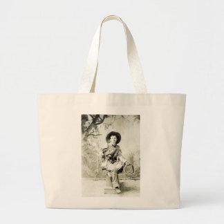 Cowboy vintage et lasso circa 1900 sac en toile