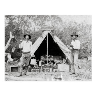 Cowboys dans le camp, 1890 cartes postales