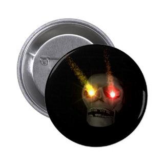 Cr�ne aux yeux fluo - badges avec agrafe