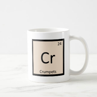 Cr - symbole de Tableau périodique de chimie de Mug Blanc