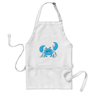 Crabe bleu heureux tablier