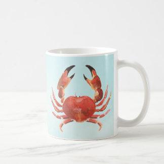 Crabe côtier nautique de fruits de mer mug
