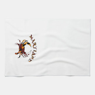 Crabe de drapeau du Maryland Serviette Éponge