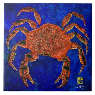 Crabe de Dungeness R - grand carreau de céramique
