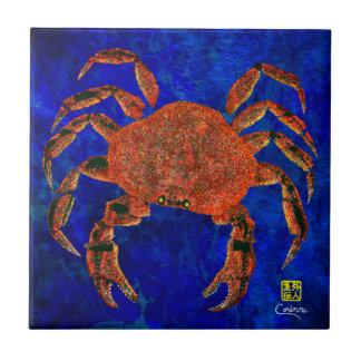 Crabe de Dungeness R - petit carreau de céramique