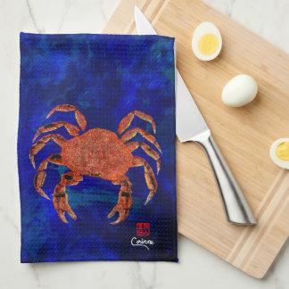 Crabe de Dungeness - serviette de cuisine