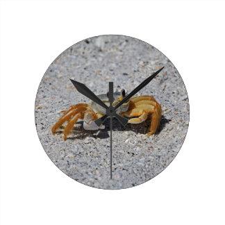 Crabe de fantôme horloge ronde
