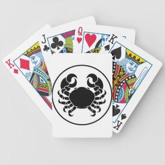 Crabe de signe de zodiaque d'horoscope de Cancer Jeu De Cartes