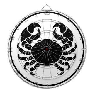 Crabe de signe de zodiaque d'horoscope de Cancer Jeu De Fléchettes