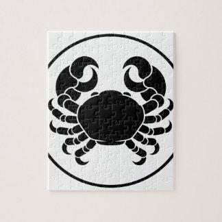 Crabe de signe de zodiaque d'horoscope de Cancer Puzzle