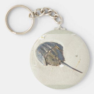 Crabe en fer à cheval Keychain Porte-clef