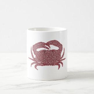 Crabe fait de cercles mug