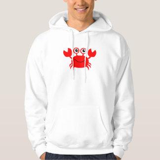 Crabe heureux de bande dessinée sweatshirt à capuche