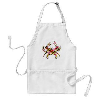 Crabe onduleux de drapeau du Maryland Tablier