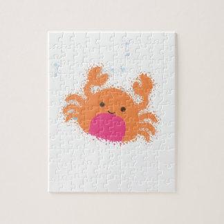 Crabe orange de bande dessinée puzzles