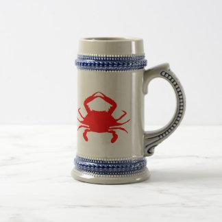 Crabe rouge chope à bière