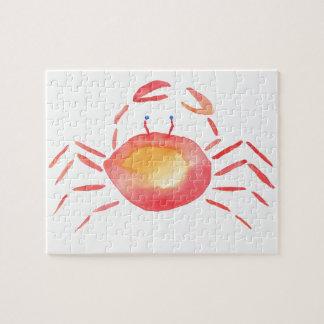 Crabe rouge et jaune puzzle
